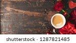 valentine's day background ... | Shutterstock . vector #1287821485
