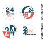 24 hours open customer service... | Shutterstock .eps vector #1287821935