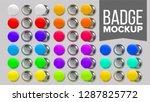 badge mockup set vector. pin...   Shutterstock .eps vector #1287825772