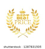 best price label illustration... | Shutterstock .eps vector #1287831505