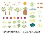 set of tropical elements sun ...   Shutterstock .eps vector #1287846535