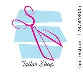 tailor scissors.tailor shop.... | Shutterstock .eps vector #1287848035