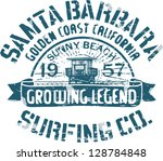 Santa Barbara Surfing  Artwork...