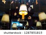 christmas lamps with... | Shutterstock . vector #1287851815