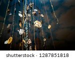 christmas different pendants... | Shutterstock . vector #1287851818