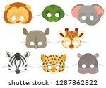 vector mask set of cute african ...   Shutterstock .eps vector #1287862822