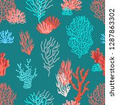Living Corals In The Sea....