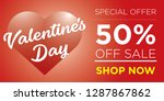 50  discount for valentine's... | Shutterstock .eps vector #1287867862