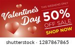 50  discount for valentine's... | Shutterstock .eps vector #1287867865