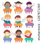 illustration of kids student... | Shutterstock .eps vector #1287871285