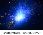 welding argon welding splatter... | Shutterstock . vector #1287873292