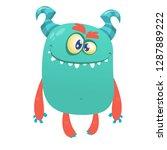 funny cartoon alien character...   Shutterstock .eps vector #1287889222