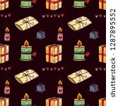 seamless pattern  with cute... | Shutterstock .eps vector #1287895552