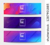 geometric banners set. creative ... | Shutterstock .eps vector #1287901885