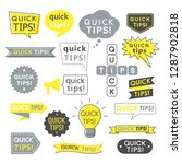 advice  quick tips  helpful... | Shutterstock .eps vector #1287902818