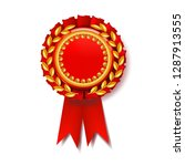 red award ribbon vector.... | Shutterstock .eps vector #1287913555