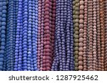 colorful beads background.... | Shutterstock . vector #1287925462