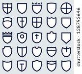shields set | Shutterstock .eps vector #128793646
