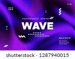movement of waves concept. 3d... | Shutterstock .eps vector #1287940015