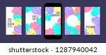 pastel tropic frames for... | Shutterstock .eps vector #1287940042