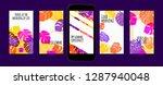stories template design. tropic ... | Shutterstock .eps vector #1287940048