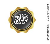 glossy label with text   10 ...   Shutterstock .eps vector #1287942595