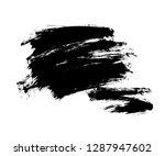 black vector grunge background | Shutterstock .eps vector #1287947602