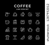 set line icons of coffee | Shutterstock .eps vector #1287952012