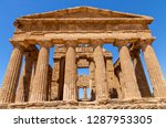temple of concordia  it is the... | Shutterstock . vector #1287953305