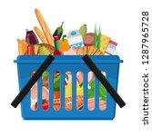 shopping cart from a... | Shutterstock .eps vector #1287965728