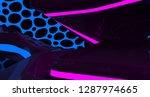 abstract  concrete futuristic... | Shutterstock . vector #1287974665