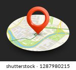 isometric round city map... | Shutterstock .eps vector #1287980215