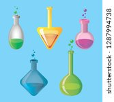 flasks with magic substance | Shutterstock .eps vector #1287994738