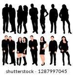white background  black... | Shutterstock .eps vector #1287997045