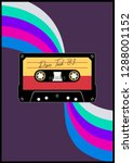 audio cassette from the 80s... | Shutterstock .eps vector #1288001152