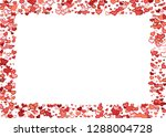scattered doodle red hearts... | Shutterstock .eps vector #1288004728