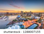baltimore  maryland  usa city... | Shutterstock . vector #1288007155