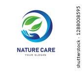 nature care logo  hand logo... | Shutterstock .eps vector #1288008595