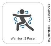 yoga warrior ii pose icon. flat ... | Shutterstock .eps vector #1288009018