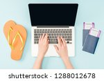 cropped view of woman using... | Shutterstock . vector #1288012678
