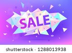 vector sale facet crystal... | Shutterstock .eps vector #1288013938
