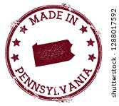 made in pennsylvania stamp.... | Shutterstock .eps vector #1288017592