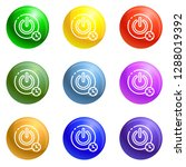 turn off timer button icons...   Shutterstock .eps vector #1288019392