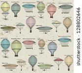 vintage  seamless pattern of... | Shutterstock .eps vector #128802646