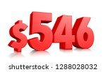 546  five hundred forty six... | Shutterstock . vector #1288028032