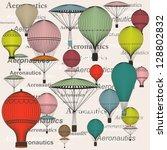hot air balloon  seamless | Shutterstock .eps vector #128802832