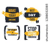 motivational poster quote set.... | Shutterstock .eps vector #1288032085