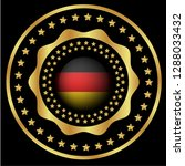gold button with germany flag...   Shutterstock .eps vector #1288033432