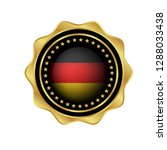 gold button with germany flag...   Shutterstock .eps vector #1288033438