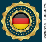 gold button with germany flag...   Shutterstock .eps vector #1288033498
